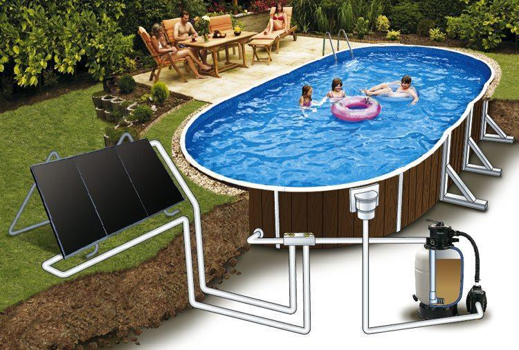 ехма слънчев панел басейн