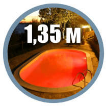 Pools with depth 1.35 m