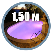 Pools with depth 1.50 m