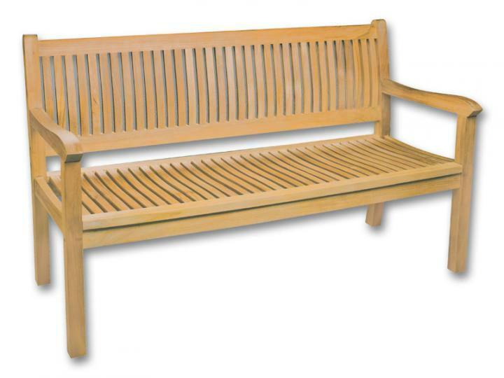 Деревянная скамья из тикового дерева