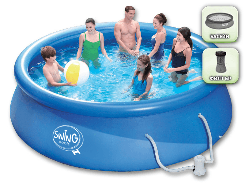 Swing Quick Set® Inflatable Pool 366 x 91 cm with filter