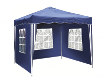 Garden tent, three walls, polyester - blue