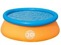 Надувной бассейн 3D Bestway 213 x 66 см
