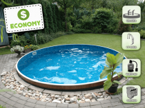 Assembled pool AZURO 400DL with filtration - ECONOMY package