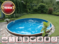 Assembled pool AZURO 400DL with filtration - SUPER package