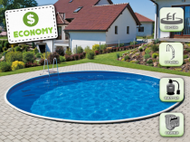 Assembled pool AZURO 401DL with filtration - ECONOMY package