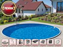 Prefabricated pool AZURO 401DL with filtration - Premium package