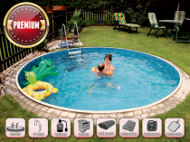 Prefabricated pool AZURO 402DL with filtration - Premium package