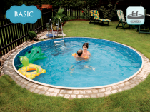 Collapsible pool AZURO 402DL for burial