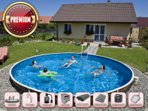 Prefabricated pool AZURO 403DL with filtration - Premium package