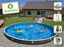 Assembled pool AZURO 403DL with filtration - Economy package