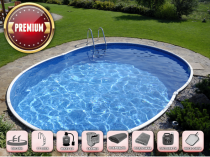 Prefabricated pool AZURO 404DL with filtration - Premium package