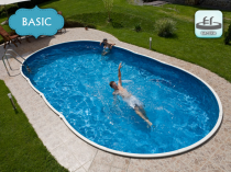 Collapsible pool AZURO 405DL for burial