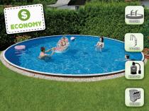 Собранный бассейн AZURO 406DL с фильтрацией - пакет ECONOMY