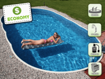 Assembled pool AZURO 407DL with filtration - ECONOMY package