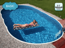 Collapsible pool AZURO 407DL