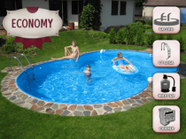 Eighth-type pool with 0.8 mm Economy Line