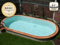 Assemble a pool with 0.8 mm line, 7 x 3 m