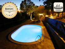 Assemble a pool with 0.8 mm line, 7 x 3,5 m