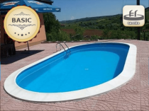 Assemble a pool with 0.8 mm line, 8 x 4 m